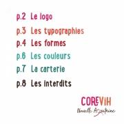 Charte graphique du COREVIH Nouvelle Aquitaine