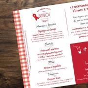 Set de table pour la journée mondiale contre le sida